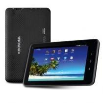 Tablet mondial tb-07 preto com tela 7, memória 8gb, wi-fi, android 4.4, câmera 2mp e processador quad core de 1,2ghz -