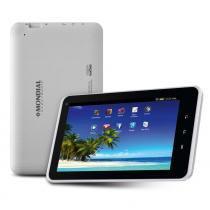 Tablet mondial tb-08 branco com tela 7, memória 8gb, wi-fi, android 4.4, câmera 2mp e processador quad core de 1,2ghz -