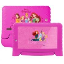 "Tablet Multilaser Disney Princesas NB281, 7"", Android 7.0, 2MP, 8GB - Rosa -"