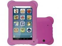 "Tablet Multilaser Kid Pad 8GB 7"" Wi-Fi Android 4.4 - Proc. Quad Core Câmera Integrada"
