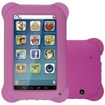 "Tablet Multilaser Kid Pad 8GB 7"" Wi-Fi - Android 4.4 Proc. Quad Core Câmera Integrada"