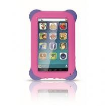 Tablet Multilaser Kid Pad 8Gb ,Quad Core ,Android 4.4 ,Cam 2.0 MP, Rosa - NB195 -