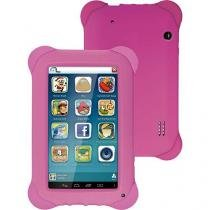 Tablet Multilaser Kid Pad 8Gb ,Quad Core ,Android 4.4 ,Cam 2.0 MP, Rosa - NB195 - Multilaser - Multilaser