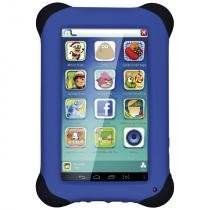 Tablet Multilaser Kid Pad NB194 7, Wi-Fi, 8 GB, Android 4.4, Câmera 2 MP, Preto com Capa Azul -