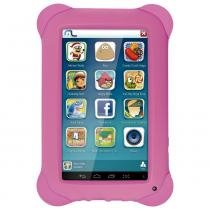 Tablet Multilaser Kid Pad NB195 8GB Quad Core Android 4.4  Câm 2.0 MP Rosa -