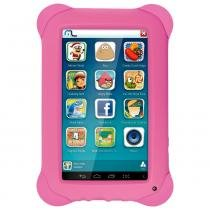 Tablet multilaser kid pad rosa quad core dual camera wi-fi tela capacitiva 7 memória 8gb - nb195 - Multikids