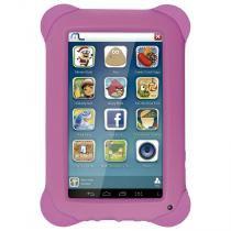 Tablet Multilaser Kid Pad Rosa Quad Core Dual Camera Wi-Fi Tela Capacitiva 7  Memória 8GB - NB195 - Rosa - Multilaser