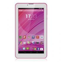 "Tablet Multilaser M7 3G, Quad Core, Tela 7"", 8GB de Memória, Dual Chip, Wi-Fi, Rosa - NB225 - Multilaser"