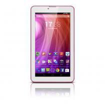 Tablet Multilaser M7 3G Rosa Dual Core Android 4.4 Kit Kat Dual Câmera Wi-Fi Tela Hd 7  Memória 8GB Dual Chip - Faz Ligações - NB164 - Rosa - Multilaser