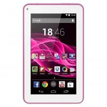 Tablet Multilaser M7S 7 Polegadas Quad Core 1,2GHZ 4.4 Rosa NB186 -