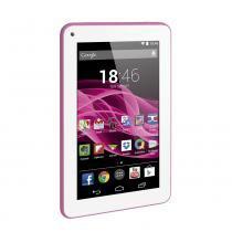 "Tablet Multilaser M7S Rosa Quad Core Android 4.4 Kit Kat Dual Câmera Wi-Fi Tela Capacitiva 7"" Memória 8GB - NB186 - Rosa - Multilaser"