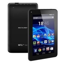 Tablet Multilaser M7s - Tela 7, Android 4.4, Quad Core 1.2GHz, Câmera, 8GB, 3G , Wi-Fi,Preto - NB184 -