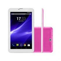 Tablet Multilaser M9 3G Quad-Core, 9 Polegadas, 8GB, Bluetooth, Dual Chip, Rosa - NB248 - Multilaser