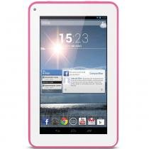 Tablet Multilaser ML Supra Rosa Dual Core Android 4.4 Kit Kat Câmera 1.3Mp Wi-Fi Tela 7  Memória 8GB - NB154 - Rosa - Multilaser