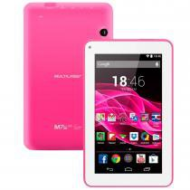Tablet Multilaser ML Supra Rosa Quad Core Android 4.4 Kit Kat Dual Câmera Wi-Fi Tela 7 Memória 8GB NB201 - Multilaser