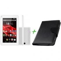"Tablet Multilaser Supra 8GB 7"" Wi-Fi Android 4.4 - Proc. Quad Core Câm. Integral + Capa para Tablet"