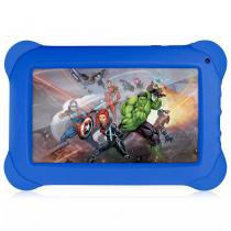 "Tablet Multilaser Vingadores Quad Core Android 4.4 Dual Cam 1.3/2Mp 7"" 8gb NB240 -"
