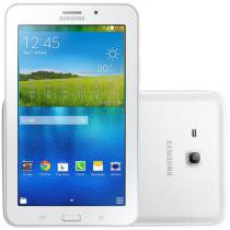 "Tablet Samsung Galaxy Tab E 7.0"" Branco 8GB 3G Câmera 2MP Quad Core 1GB de RAM -"