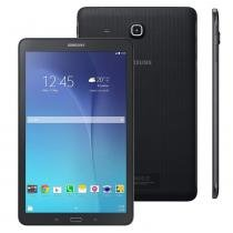 "Tablet Samsung Galaxy Tab E SM-T561, 3G, 9.6"", 8GB, 5MP, Android 4.4 - Preto -"