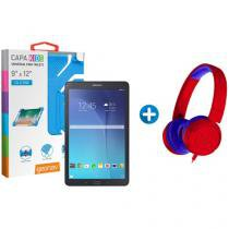 "Tablet Samsung Galaxy Tab E T560 8GB 9,6"" Wi-Fi - Android 4.4 + Headphone/Fone de Ouvido + Capa"
