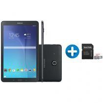 "Tablet Samsung Galaxy Tab E T561 8GB 9,6"" 3G Wi-Fi - Android 4.4 + Cartão de Memória 32GB SanDisk"