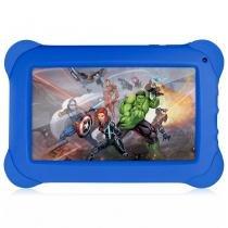 Tablet Vingadores - 7 Polegadas - Wifi - 8GB Memória Interna - Quad Core - Azul - NB240 Multikids - Multilaser