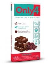Tablete ONLY4 sabor CRANBERRY 80g -