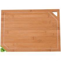 Tábua de Corte Bambu Retangular Mor - com Afiador