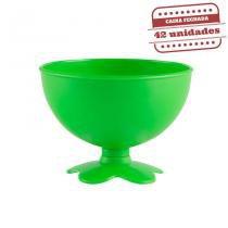 Taça de Sobremesa Acrílica Verde Neon Leitoso 400ml 42 unidades Bezavel - Festabox