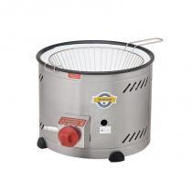 Tacho para fritura - bacia esmaltada - baixa pressão - 3,5 lt - c/ peneira - Marchesoni