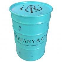 Tambor Decorativo Tiffany And Co. Vintage Industrial - Versare Anos Dourados