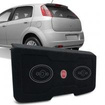 Tampão Porta Malas Fiat Punto 2007 a 2017 Carpete Preto + Furos 6x9 MDF 12mm Bagagito - R-acoustic
