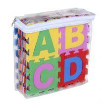 Tapete alfanumerico em eva com 36 peças coloridas carlu 0079 071813 - Smmart