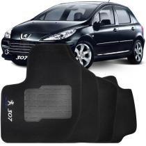 Tapete automotivo personalizado carpete peugeot 307 09 até 12 preto jogo 4 peças - Hera