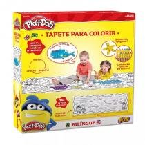 Tapete Bilíngue com Apagador para Colorir Play-Doh Fun 8005-8 -