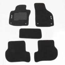 Tapete carpete personalizado jetta /10 preto 5 peças - Flash