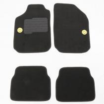 Tapete carpete personlizado universal preto smile 4 peças - Flash