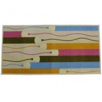 Tapete Clean Kasa Elite Infantil Pencil 50x70 cm - Colorido - Kapazi