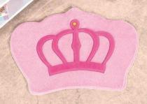 Tapete Coroa 86cm x 64cm - Rosa - Guga Tapetes