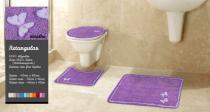 Tapete De Banheiro Kit 3 Peças 100 Algodão Ibiza - Gera Tapetes