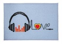 Tapete de Porta 40x60 cm Happy Day Musica Corttex - Corttex