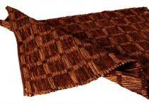 Tapete Decorativo Check Chocolate Grande com tiras de Couro - Maria Pia Casa