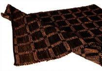 Tapete Decorativo Check Preto Pequeno com tiras de Couro - Maria Pia Casa