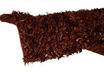 Tapete Decorativo de Couro Shaggi Marrom Médio - Maria Pia Casa