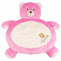 Tapete fluffy urso rosa forte - anjos baby - Anjos baby