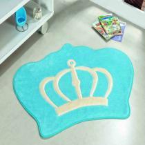 Tapete formato big coroa azul turqueza - Dourados enxovais