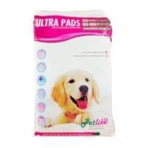 Tapete higiênico Ultra Pads Super Fino 30 Unidades 60x60 Petlike -