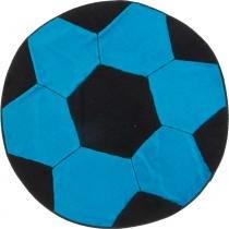 Tapete Infantil Formato Bola Turquesa/Preto 65 x 65 cm - Guga Tapetes - Azul - Guga Tapetes