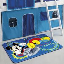 Tapete Infantil Orient Mickey Balanço 80x120 cm - Jolitex - Azul - Jolitex
