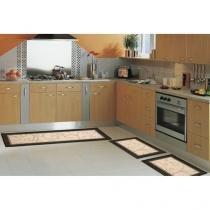 Tapete para Cozinha Sisal Look Clássico - 3 Peças - Rayza